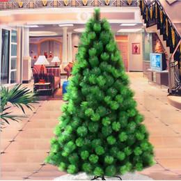 Wholesale Artificial Pine Needles - 1.8m  180cm Luxury Encryption Artificial Needle Pine Christmas Tree DIY Decor Environmental PVC Metal Frame Xmas New Year Decoration ZA1173