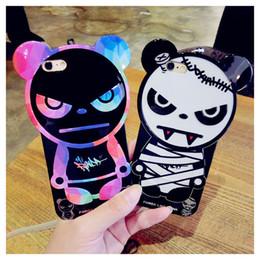 2019 téléphones comme iphone Creative Design Cell Phone Cases Panda Comme Punk Cats Téléphone Couvre avec Soft TPU pour iphone 6s 6plus 39 téléphones comme iphone pas cher
