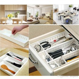 Wholesale Plastic Divided - Adjustable Drawer Storage Organizer Kitchen Cutlery Partition Divide Cabinet Box