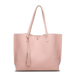 Wholesale Handbag Brand Pink - Women Leather Handbags Shoulder Bags Fashion Women Bag Brand Handbag Bolsa Feminina 2017 Big Tote Borse