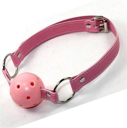 Wholesale Harness Gags - Head Harness Ball Gag Mouth Bite Gags Bondage Harness Gag Female Slave BDSM SM Femdom Gear Gadgets Toys Game Adult wholesale