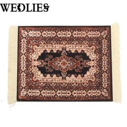 Wholesale persian rugs carpets - Wholesale- Persian Rug Mouse Pad Custom Bohemian Style Mouse Mat Comfortable Surface Carpet Rubber Cotton Computer Desk For Home Office