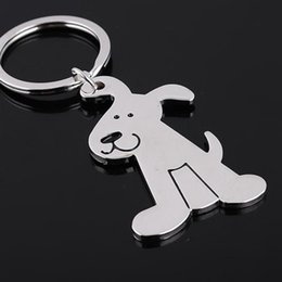 Wholesale Cute Gift For Wedding - High quality alloy cute pet dog model keychain key ring for wedding key advertising gift 100pcs