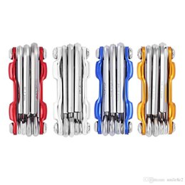Wholesale Allen Key Wrench - Multifunctional Folding MTB Cycling Repair Tool Screwdriver Hex Wrench Allen Key Repair Tools Folding MTB Cycling Screwer 7 in 1 +B