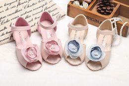 Wholesale Velcro Shoes Heels - GG Girl girls lightweight breathable sandals Korean fashion Velcro fish head Princess shoes