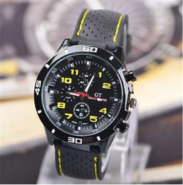 Wholesale Grand Gt - GT Grand Touring Men Watches Quartz Sports Wristwatches Man Silicone Watch Strap Watchband Military Watch Men's