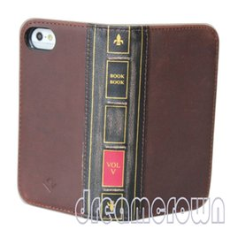 Wholesale Iphone Book Cases - 2016 New style Genuine leather hard Case for apple iphone 6 4.7 book wallet slim cover
