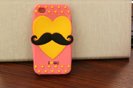 Wholesale Sweet Heart Case Iphone - I love GC lovely heart sweet color silicon anti-knock phone case