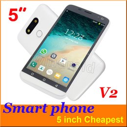 Wholesale Cheap Unlocked Dual Phone - H-Mobile Cheap 5 Inch Android 4.4 Smart Cell Phone V2 Dual Sim Wifi 256M RAM Spreadtrum SC6820 854*480 Dual Camera Unlocked colors Free 5pcs