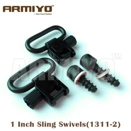 """Wholesale Tactical Swivels - Armiyo Tactical 1"""" 25.4mm Gun Sling Swivels Wood Screws Fit Most bolt action with fore end wood at least 5 8"""" Deep Hunting Rifles 1311-2"""
