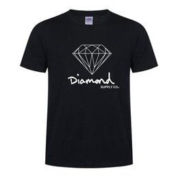 Wholesale Orange Brand Clothing - Diamond Supply Co New Summer Cotton Mens T Shirts Fashion Short-sleeve Printed Male Tops Tees Skate Brand Hip Hop Sport Clothes D15