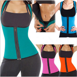 Wholesale Women Plus Size Sweats - plus size women sweat enhancing waist training corset cincher waist trainer sauna suit Sport vest hot shaper body sport top