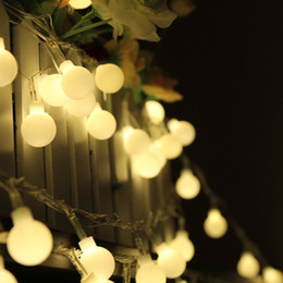 Wholesale Net Indoor Curtains - 10M 100 LED Globe String Lights Warm White White Ball Fairy Light for Party Christmas Wedding New Year Indoor&outdoor Decoration