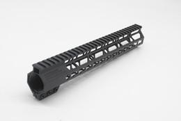 montaje de rifle Rebajas Negro 12 '' longitud Keymod Handguard Sistema de montaje en riel flotante Ajuste para trabajo pesado .223 Rifle Hand Guard Rails