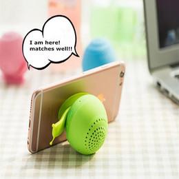 2019 neuheit telefonhalter Neueste schnecke bluetooth lautsprecher mini wireless novelty mit handyhalter bluetooth lautsprecher sound box großhandel 10 teile / los rabatt neuheit telefonhalter