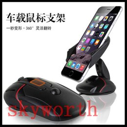 Wholesale Mouse Note Holder - Mouse Car Phone Holder Universal 360 Windshield Mount Bracket for Iphone 7 6 6s Plus Xiaomi Redmi Note 5 7 Mobile