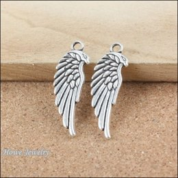 Discount ancient gold charms wholesale - 36pcs Vintage Charms wing Pendant Ancient silver Fit Bracelets Necklace DIY Metal Jewelry Making B171