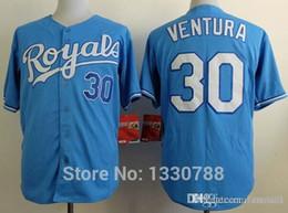 Wholesale Light Blue Baseball Shirt - 2016 New Kansas City Royals Baseball Jersey #30 Yordano Ventura Light Blue Alternate Stitched Sport Jersey Shirt 2016 New Arrival