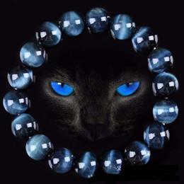 Wholesale Tiger Eye Stone Bracelet Men - High Quality Blue Tiger Eye Buddha Bracelets Natural Stone Round Beads Elasticity Rope Men Women Bracelet