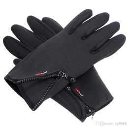 Wholesale Leather Ski Gloves Women - Outdoor Sports Winter Warm Leather Gloves Men Women Bike Hiking Motorcycle Ski Long Tactical Gloves