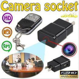 Wholesale Spy Camera Remote Controller - 1080P Full HD Plug Camera S303 hidden mini socket camera Remote control Covert Spy Camera Webcam with Motion Detection remote controller