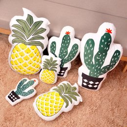 Wholesale Decorative Household - Cartoon Soft Cushion Two Sided Pineapple Sofa Siesta Pillow Take Photo Props Household Decorative Articles Gift 14 1bm C R