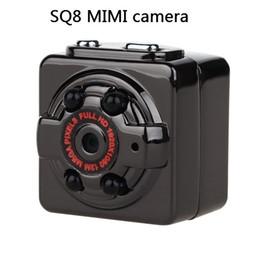 2019 lunga distanza dalla fotocamera Videocamera digitale per visione notturna a raggi infrarossi SQ8 Mini DV Night Vision Videocamera 1080P Full HD per auto sportiva IR Night Vision DVR