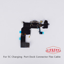 Wholesale Charge Dock - Best Quality AAA Replacement Charging Port Dock and Flex Cable For Iphone 5C with Free Shipping