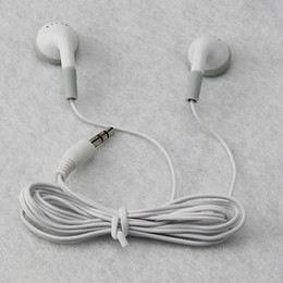 Wholesale Cheapest Quality Headphones - Cheapest high quality MP3 headphone earphones headset 3.5mm for mp4 IPHONE black white 2000pcs DHL FEDEX FREE SHIPPING