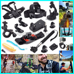 Wholesale gopro hero head - 12 in 1 Kit For go pro Camera Accessories Head chest strap bracelet Monopod with Mount Adapter for GoPro Hero 5 4 3