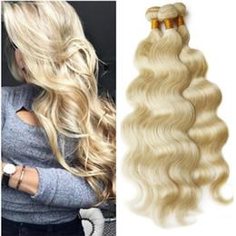 2020 mischen sie farbenhaarverlängerungseinschlagfaden 613 Beste verkaufende platin Blonde farbe 613 Körperwelle weben malaysischen wellig Menschliches Haar schuss erweiterungen 3 stücke bündel mischlängen 10-30 '' auf lager günstig mischen sie farbenhaarverlängerungseinschlagfaden 613