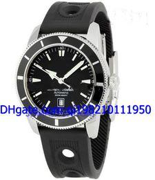 Wholesale Superocean Strap - Wholesale - Luxury Superocean Heritage 46 Black Automatic Mens Watch A1732024 Rubber Strap Men's Sport Watches