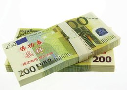 Wholesale Paper Holiday Crafts - 100PCS Euros 200 Training Banknotes Movie Props Money Bank Staff Collect Learning Paper Money Home Holiday Decoration Art Crafts Gifts