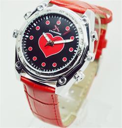 Wholesale Dv Waterproof Watch Spy - 32GB Red Lady Style HD 1920*1080P IR Night Vision Hidden DVR Waterproof Spy Watch Camera Mini DV