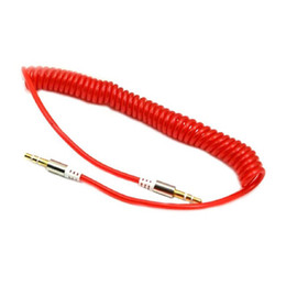 Wholesale Flexible Shielded - 3.5mm Jack to 3.5mm Jack Flexible Audio Cable Video AUX Cable Line In Car for MP3 Computer Speaker
