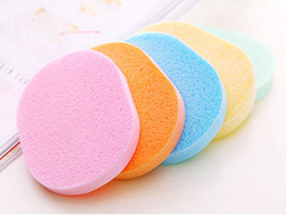 Wholesale magic sponge clean cleaner - 10pcs lot,Magic Face Cleaning Wash Pad Puff Seaweed Cosmetic Puff Cleansing facial flutter wash face sponge makeup tools