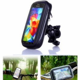 Wholesale Iphone Bike Case - Motorcycle Bicycle Phone Holder Mobile Phone Stand Support For iPhone 7 6S Galaxy S8 Plus GPS Bike Holder Waterproof Bike Case Bag