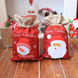 Wholesale Santa Christmas Wrap - 2017 Christmas Gift Bag The Santa Claus Gift Present Bag Gifts Sack Ornaments Christmas Decoration Supplies