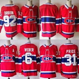 10ad26089 92 Jonathan Drouin Jersey 2017-2018 Season 31 Carey Price 6 Shea Weber Montreal  Canadiens Hockey Jerseys Stitched New Jersey