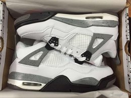 Wholesale Sneaker High Top China - 2016 High-quality Fashion China Top Quality Brand Designer Retro 4 308496-104 Men Basketball Shoes Cheap Sneakers White Cement US 8-12