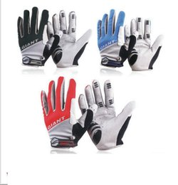 Wholesale Road Bike Winter Gloves - Giant Winter Warm Full Finger Cycling Gloves Sports Accessory road Mountain bike silicone non-slip breathable gloves KKA2336
