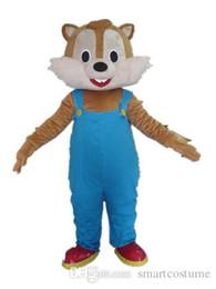 Wholesale Squirrel Mascot Costumes - RH0411 adult blue trousers squirrel mascot costume for adult to wear