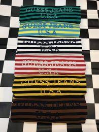 Wholesale Long T Shirt Short Sleeve Women - 2017 high quality ASAP SS17 A$AP Rocky joint model Rainbow Embroidery oversize RInger Tee women and men T-shirt size M-XL