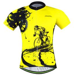 Jersey tour francia amarillo online-Nueva capa amarilla Tour de france Jersey de ciclo Ropa de ciclismo Ciclismo desgaste Ciclismo de manga corta Envío gratuito