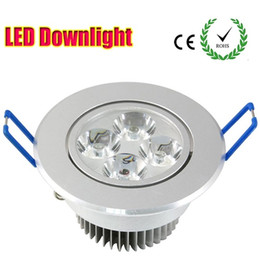 Wholesale Downlight Replacement - 5W LED Downlights Recessed LED Ceiling Light 4X1W 110V Led Downlight Recessed Ceiling Lighting Fixture 50W Halogen replacement