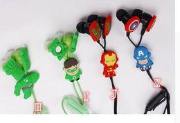 Wholesale Despicable Headphones - Top Cartoon earphone minions Despicable Me superman in-ear headset 3.5mm Avengers jake stereo headphones for iphone5 Samsung E05