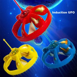 Wholesale Control Floats - Magic Hand Induction Floating UFO Saucer Aircraft Flash Remote Control Helicopter Frisbee Toys 4 Colors Free DHL