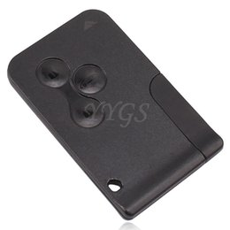 Wholesale Renault Megane Key Card - 3 Button Replacement Key Card Cover For Renault Clio Megane Scenic Grand Keycard Shell Case Free Shipping