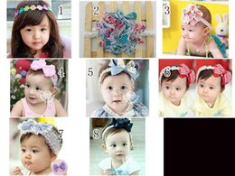 Wholesale Hair Stretch Combs - 2016 Han Guoguan network headband stretch cotton baby Taobao selling children's hair band flower hair band