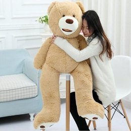 Wholesale Life Size Toy Christmas - 51 inch giant teddy bear plush toy life size teddy bear 1 pcs 130cm kids toys birthday gift Valentine's Day Gifts for women